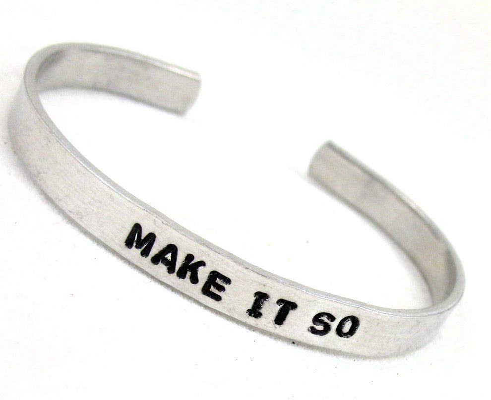 Make It So - Aluminum Bracelet