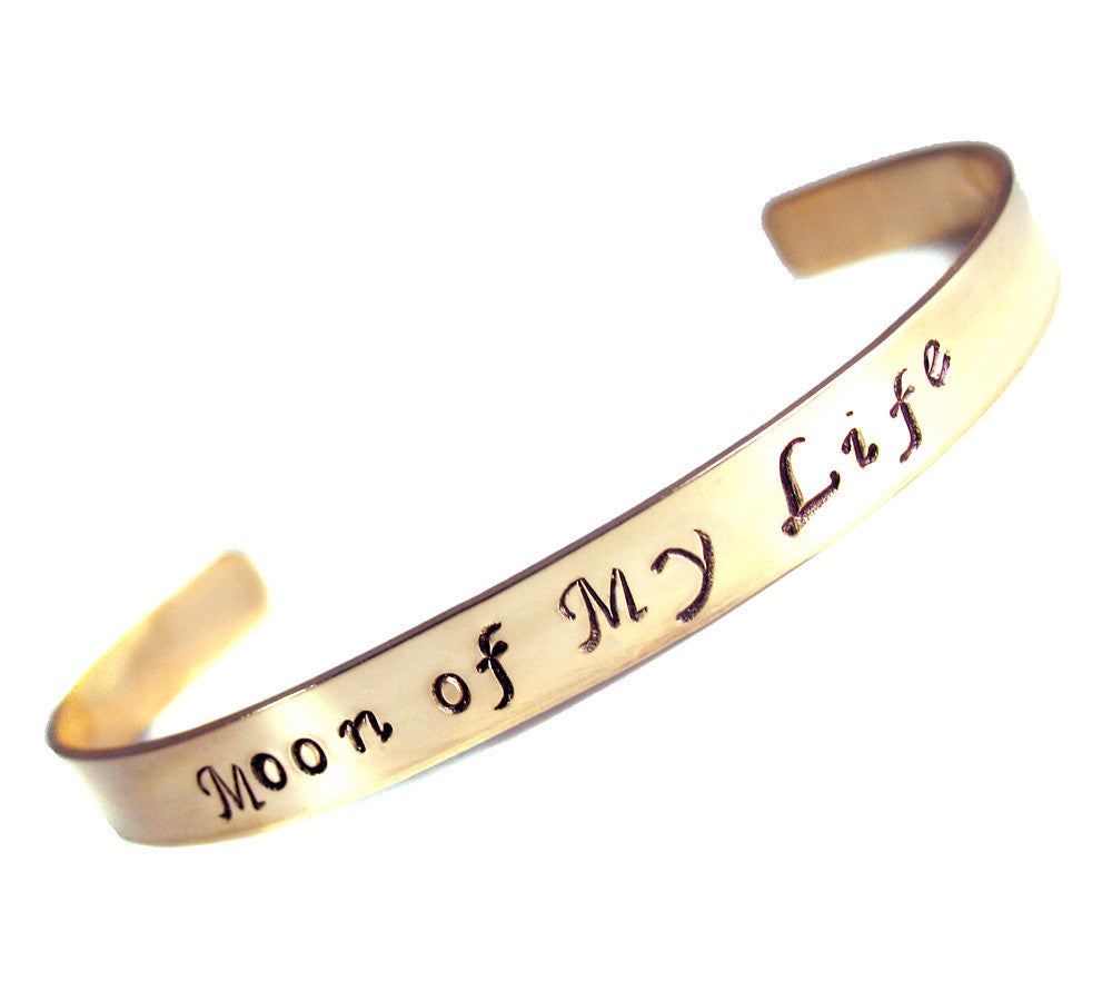 Moon of My Life, 14k Gold Filled, Hand Stamped Bracelet - Game of Thrones Inspired
