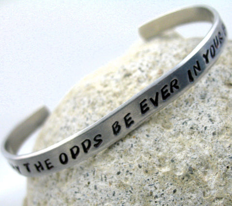 May the Odds Be Ever In Your Favor - Aluminum Bracelet
