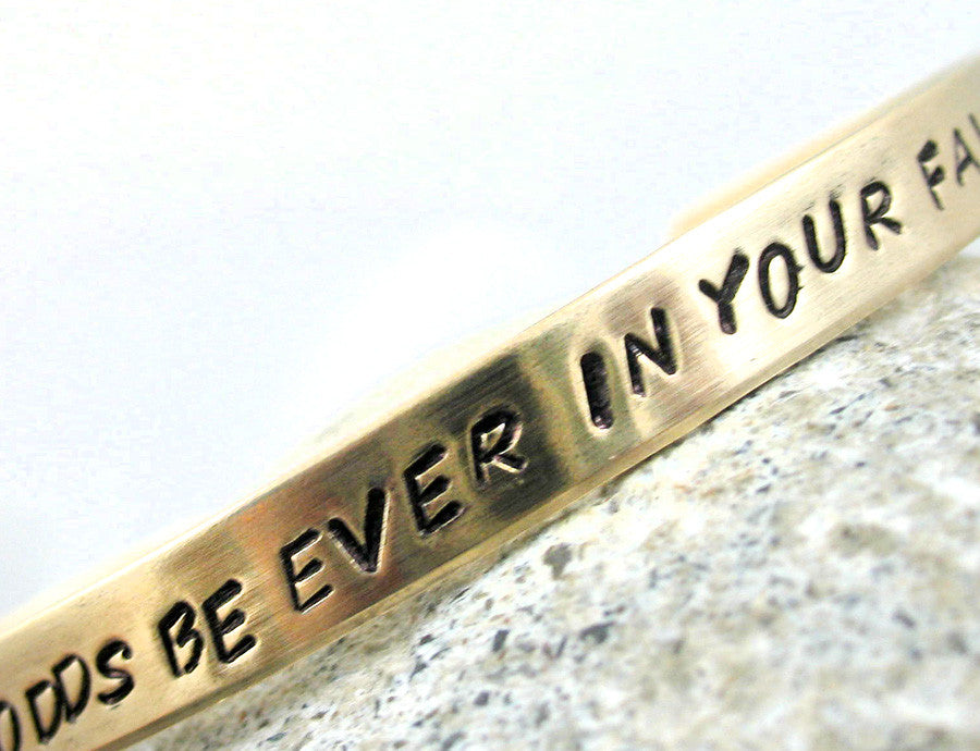 May the Odds Be Ever in Your Favor - Brass Bracelet