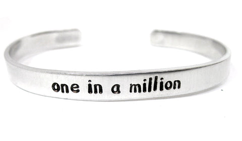 One In a Million - Aluminum Bracelet