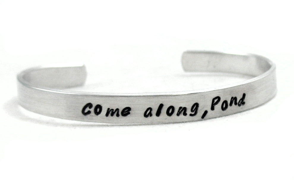 Come Along, Pond - Aluminum Bracelet