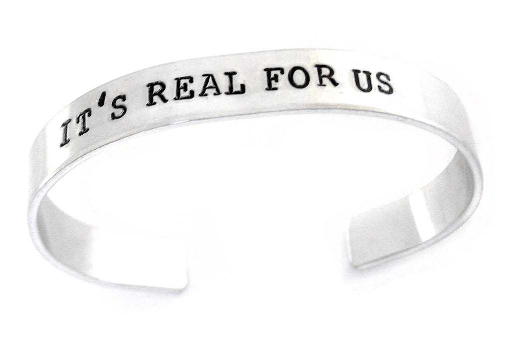 It's Real for Us - Aluminum Bracelet