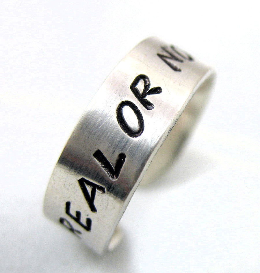 "Custom Sterling Silver 1/4"" Ring"