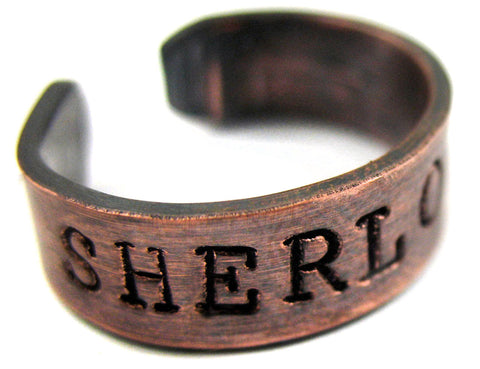 Sherlocked - Antiqued Copper Ring