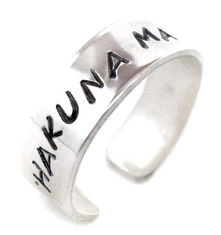 "Custom Sterling Silver 1/4"" Ring - Perfect for Valentine's, Inspirational Words, Mother's Day"