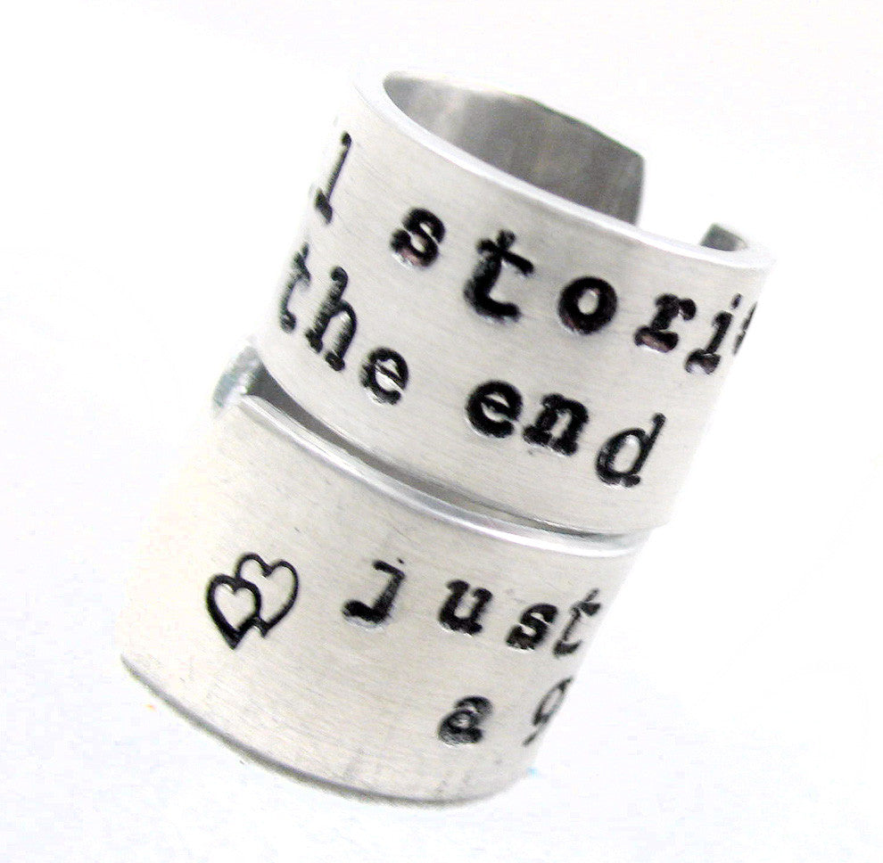 We're All Stories In the End... - Aluminum Rings