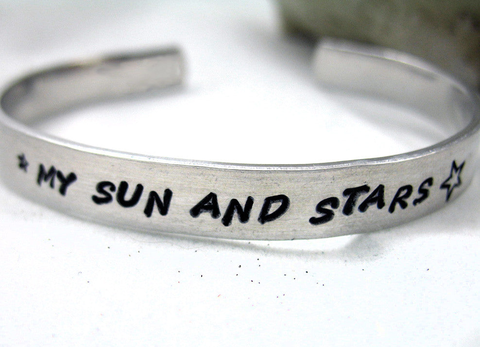 My Sun and Stars - Aluminum Bracelet