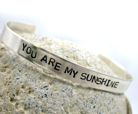 You Are My Sunshine - Sterling Silver Bracelet