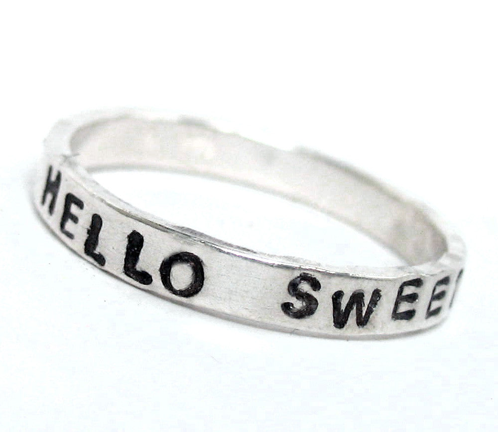 Hello Sweetie - Sterling Silver Ring