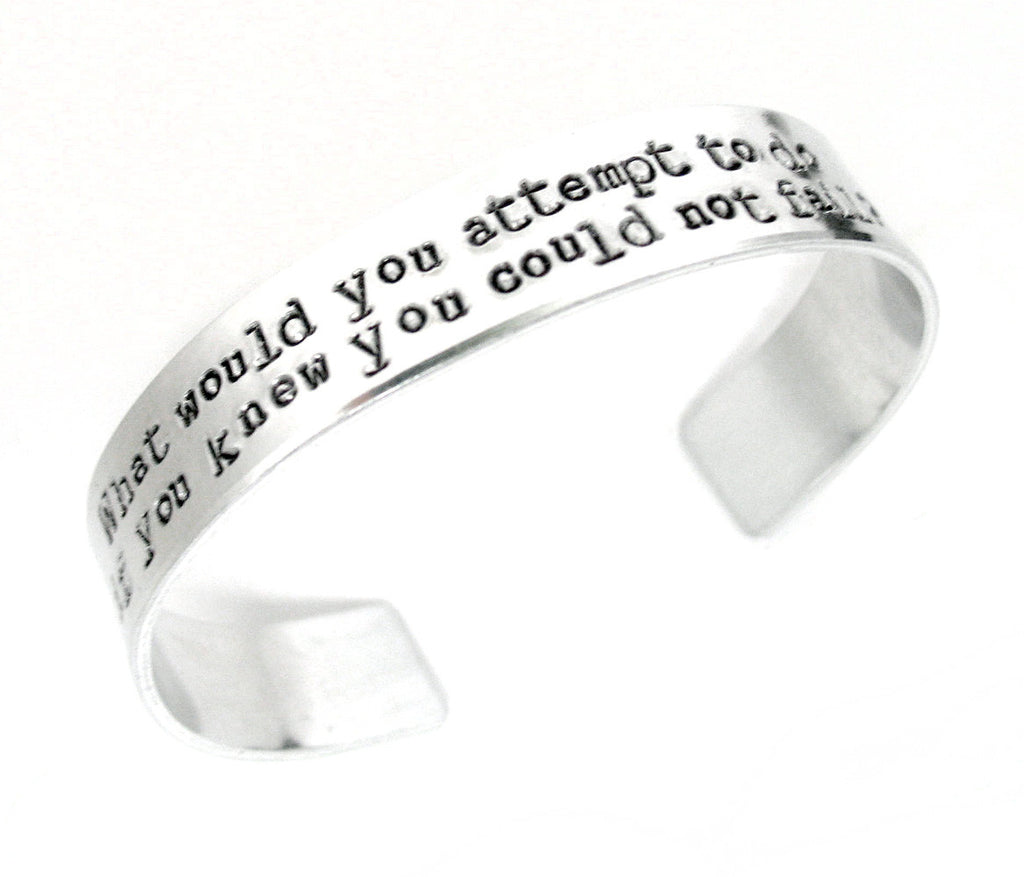 Custom Aluminum Bracelet, Stamped on Both Sides