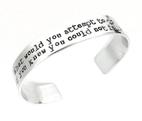 "Custom 1/2"" 1100 Pure Aluminum Bracelet, Stamped on Both Sides with your favorite quote or phrase!"