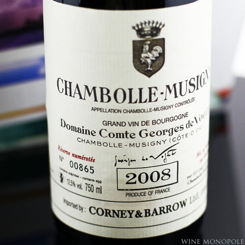 Comte Georges de Vogue Chambolle-Musigny 2008