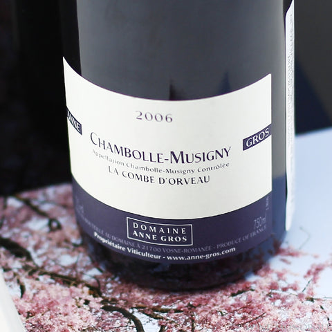 Anne Gros Chambolle Musigny Combe d'Orveau 2006