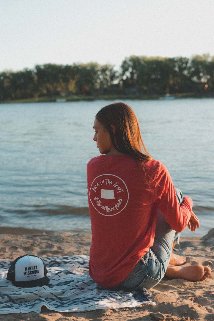 """Born in the Heart of the Northern Plains"" Long Sleeve T-Shirt"