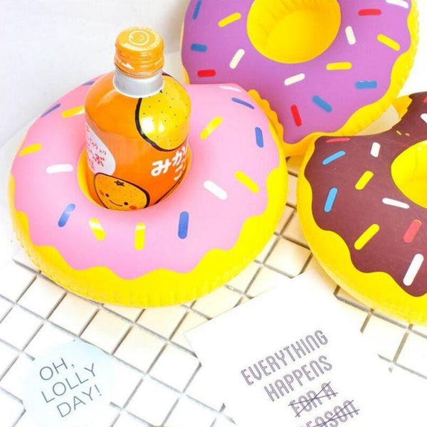 porte verre gonflable donuts