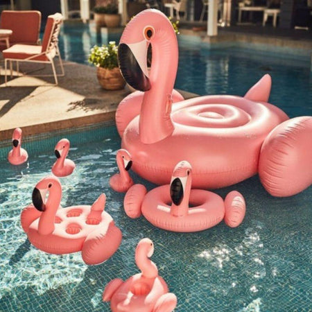 Porte Gobelet Gonflable Flamant Rose