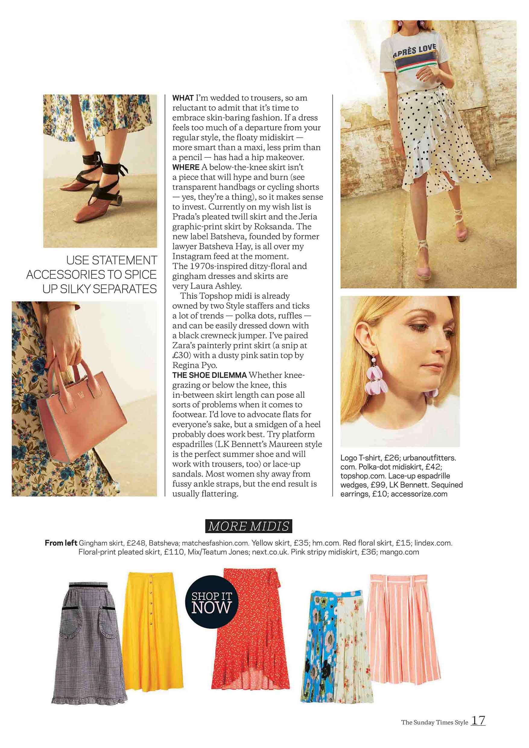 The Sunday Times Style Magazine Pink Mini Tote