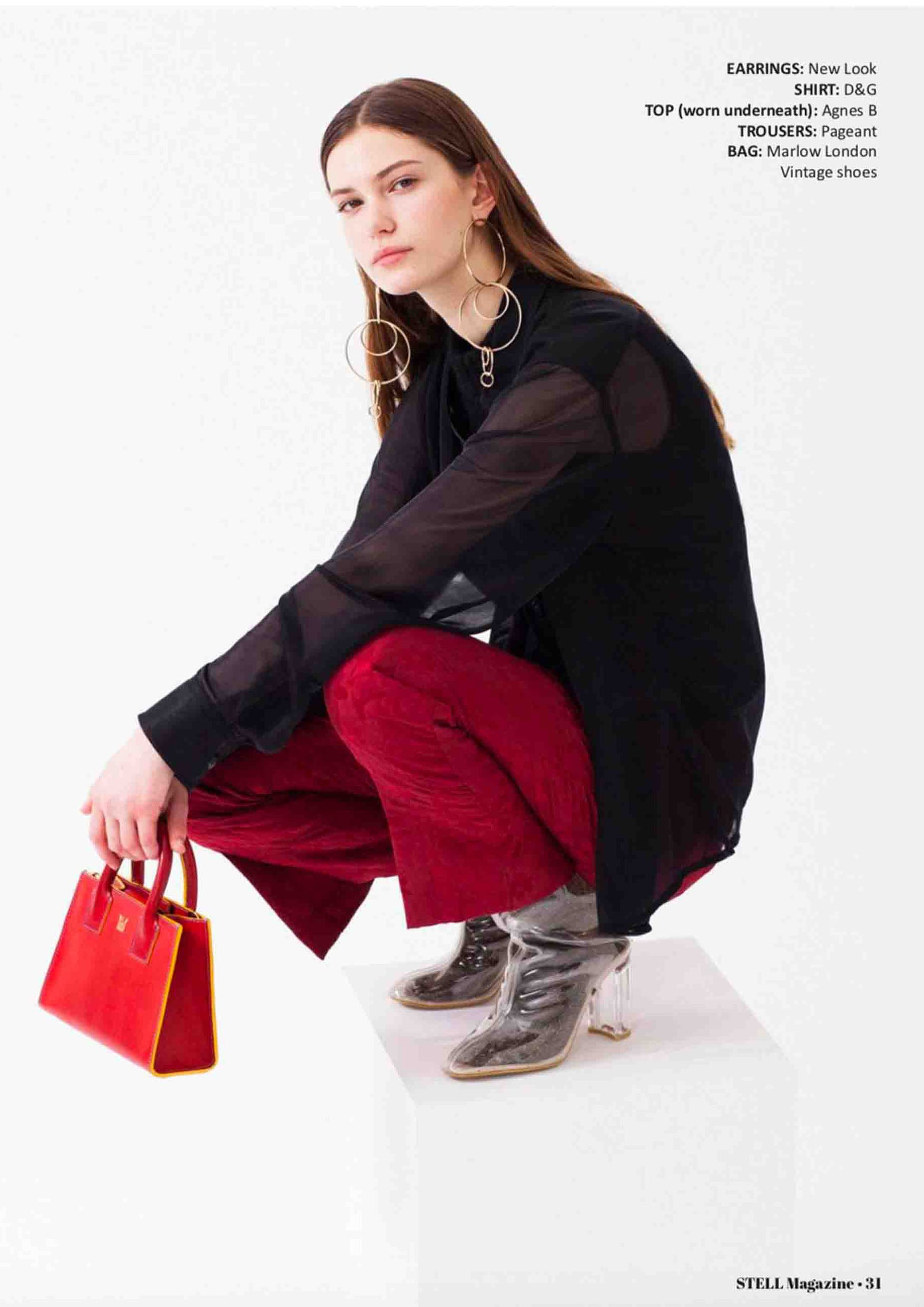 Stell Magazine MARLOW Red Mini Tote
