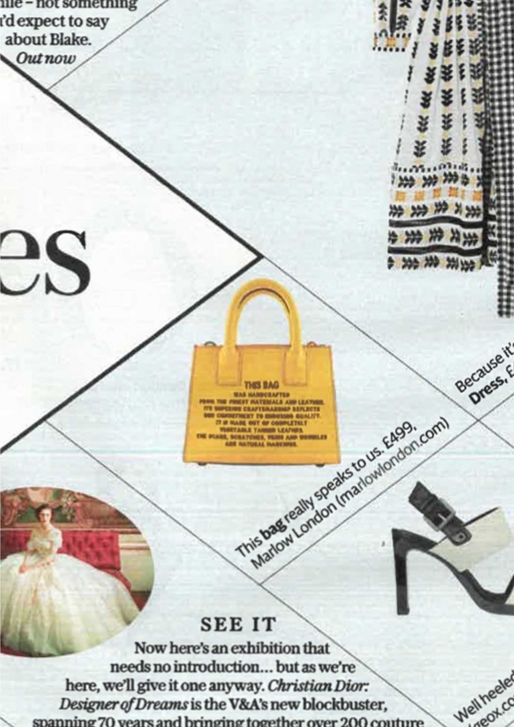 The Telegraph Stella Magazine Yellow Mini Tote