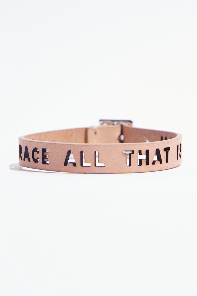 Embrace All That Is You Leather Bracelet