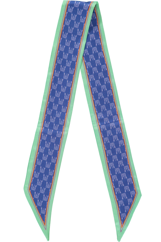 Blue Monogram Silk Scarf