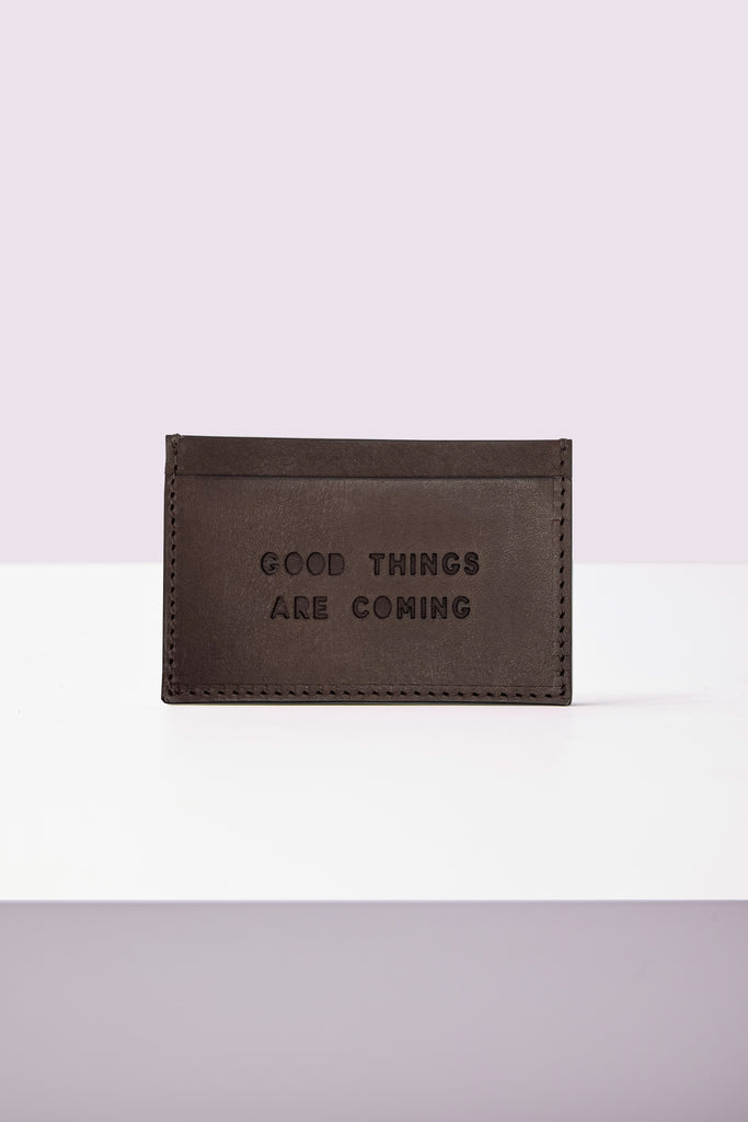 Card Holder - Good Things Are Coming