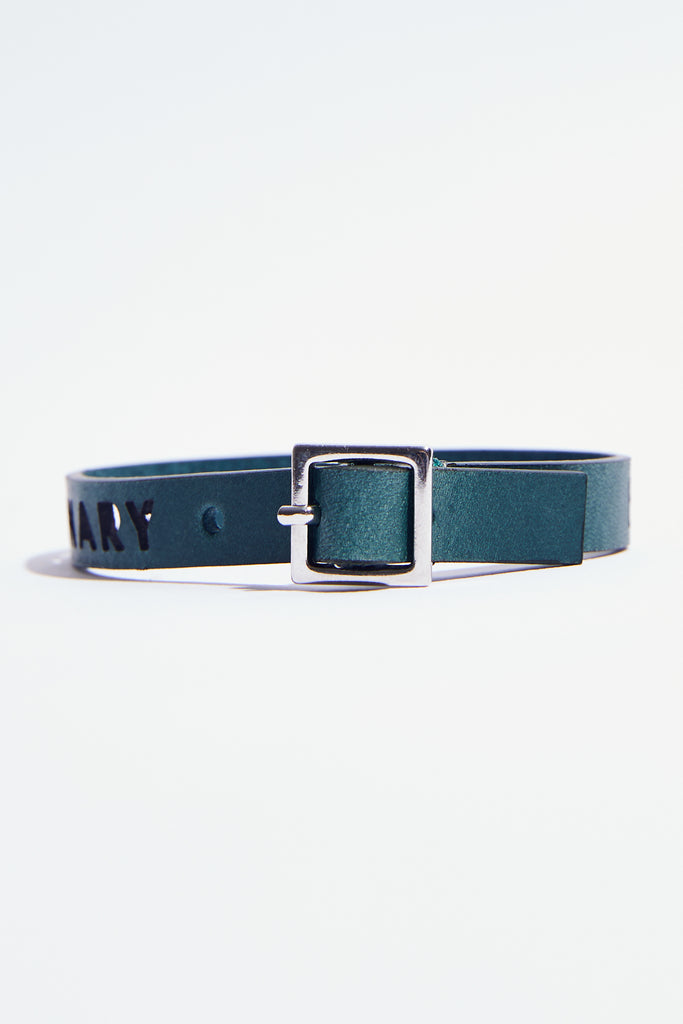 Dark-Green Leather Bracelet