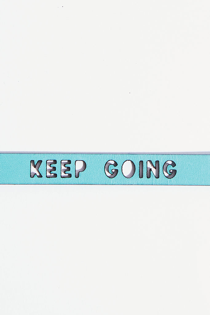 Keep Going Leather Bracelet