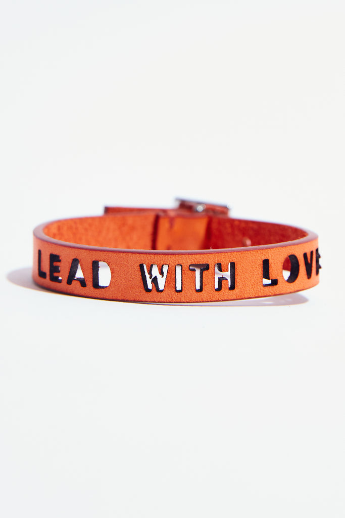Lead With Love Leather Bracelet