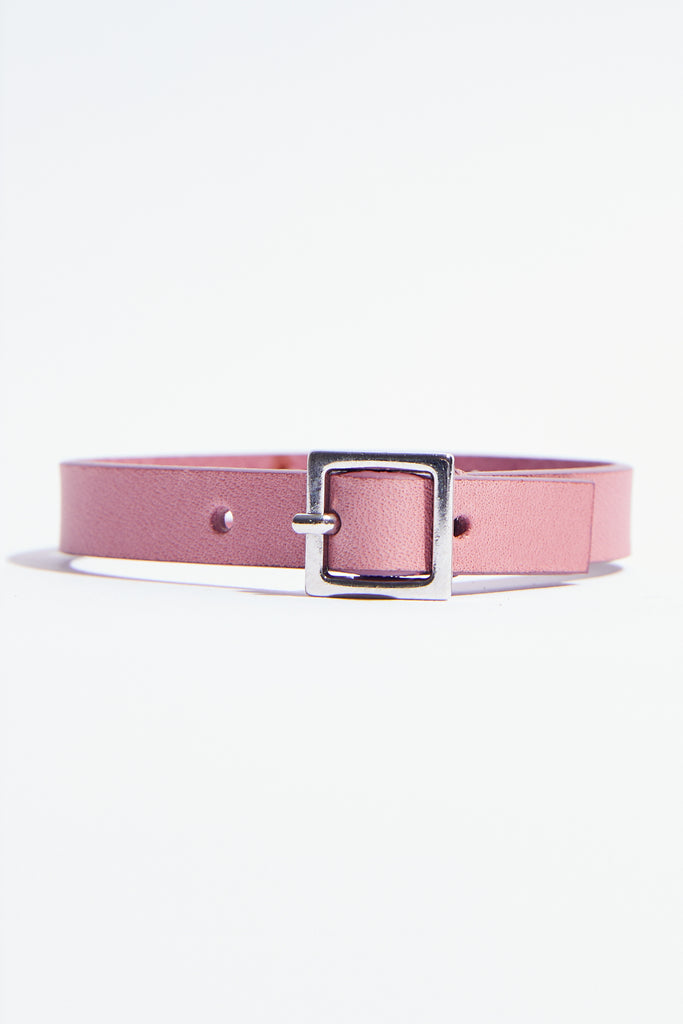 Light-Pink Leather Bracelet