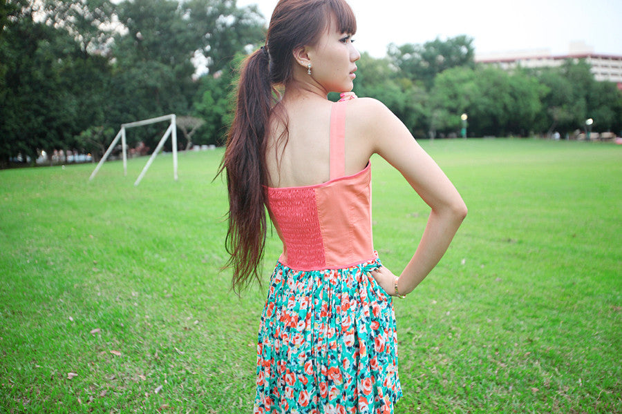 Corset Floral Print Dress