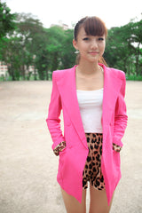 Double Lapel Boyfriend Blazer with Structured Shoulder Pads