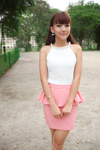 Pearl Collar Top