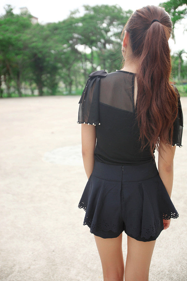 Top with Shoulder Bows and Studs