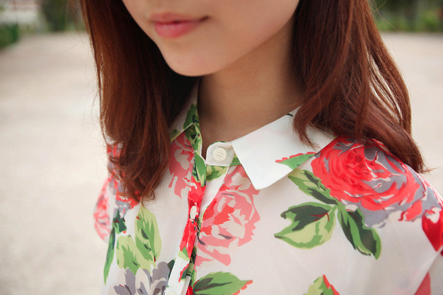 Shirt with Floral Prints