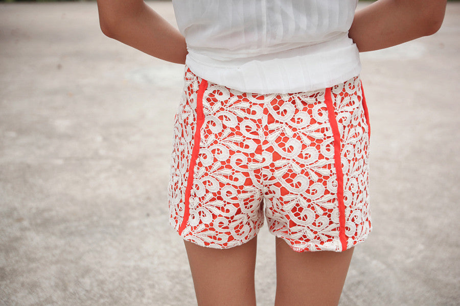 Crochet Paperbag Shorts