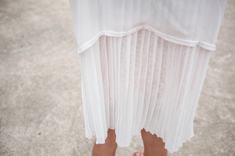 Sheer Top with Oversized Pockets