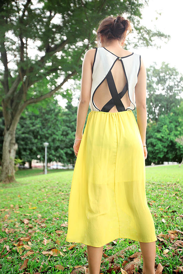 Cut-out Back Strappy Dress