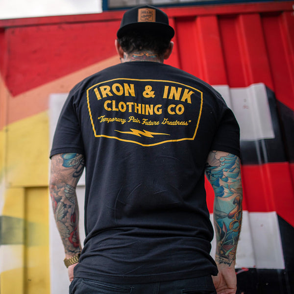 """RESTOCKED"" Future Greatness Tee Shirt- Black/Golden Yellow"