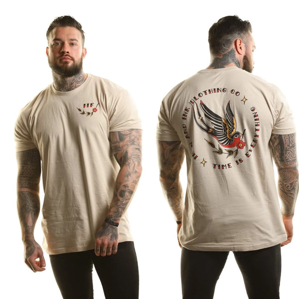 """NEW"" Sparrow Unisex Tee Shirt- Tan"