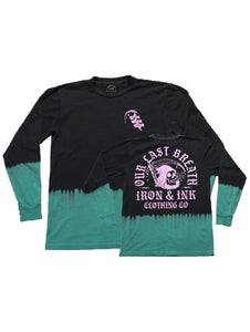 """NEW"" Reaper Custom Dyed Unisex Long Sleeve- Black/Teal"