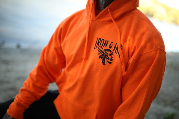 Give 'Em Hell Pull Over Hoodie- Orange