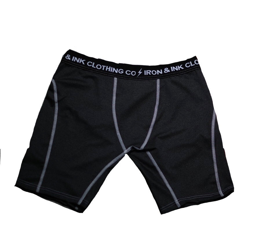"""NEW"" Performance Boxer Briefs- Black/White"