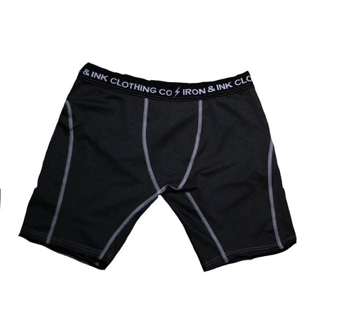 Performance Boxer Briefs- Black/White