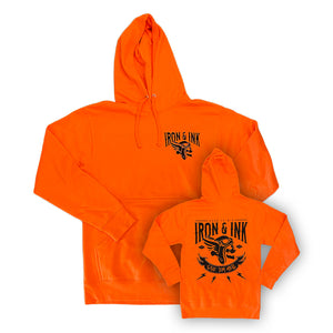 """NEW"" Give 'Em Hell Pull Over Hoodie- Orange"