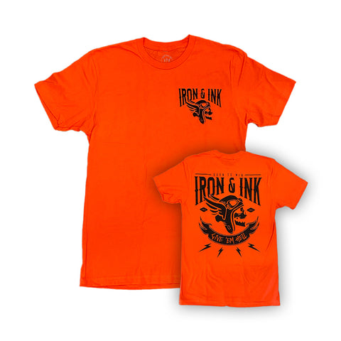 Give 'Em Hell Unisex Tee Shirt- Orange