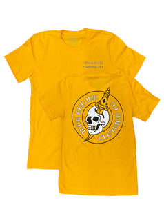 """NEW"" Skull & Dagger Unisex Tee Shirt- Gold"