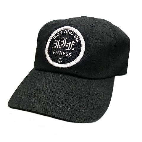"""NEW"" IIF Logo Step Dad Hat- Black"