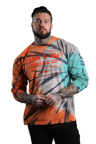 """NEW"" Custom Dyed Unisex Long Sleeve- Tequila Sunrise"